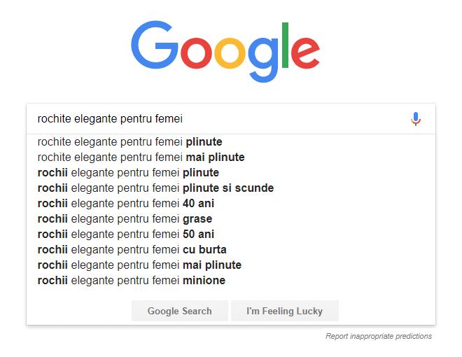 sugestii cuvinte cheie google