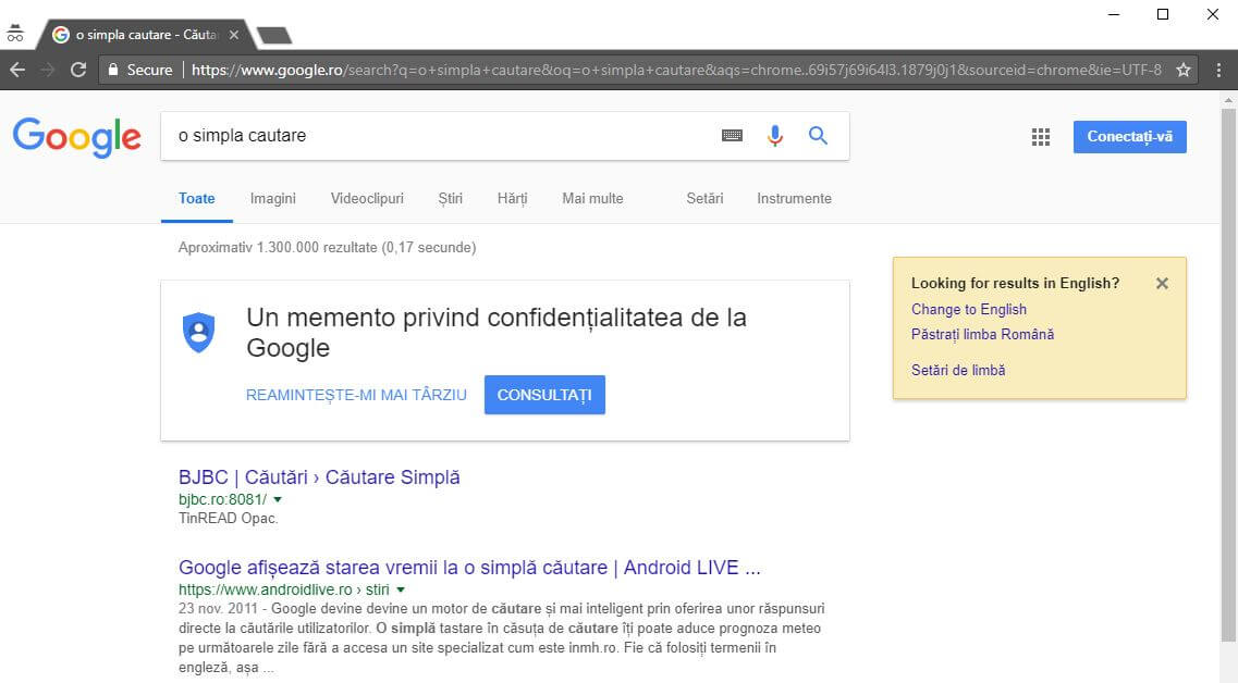 cautare google url dinamic