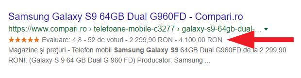 Date Structurate Google