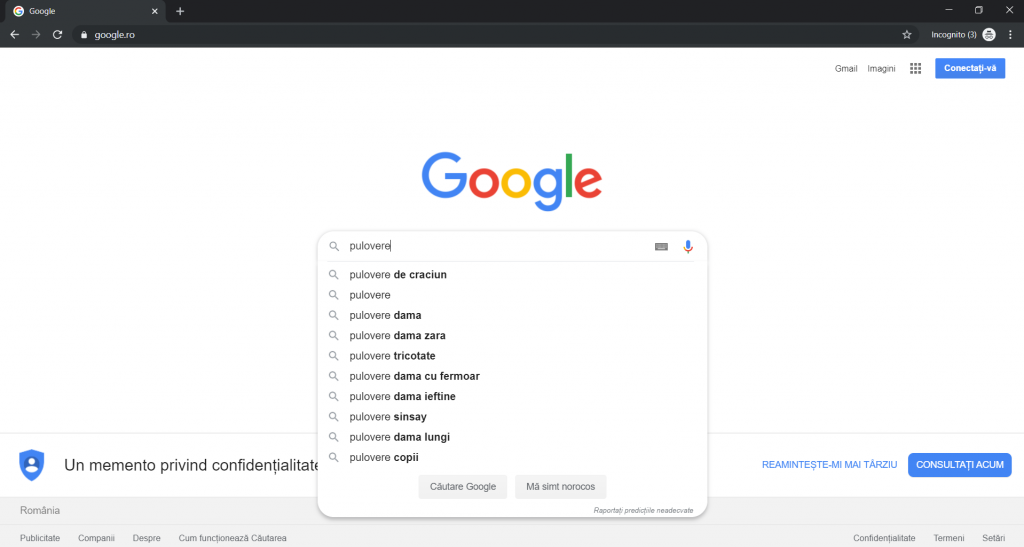 Google auto-complete sezonier