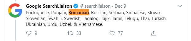 BERT Update Romania