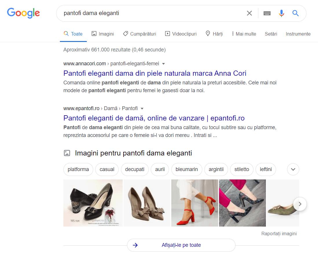 rezultate cautari pentru pantofi dama eleganti